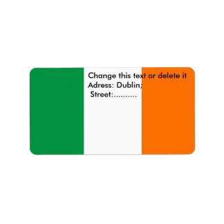 Custom Label with Flag of Ireland Address Label