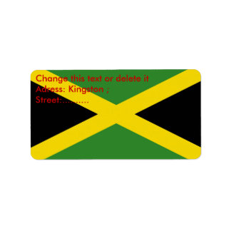 Custom Label with Flag of Jamaica Address Label