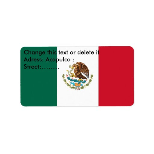 Custom Label with Flag of Mexico