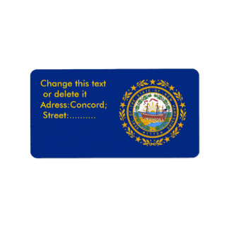 Custom Label with Flag of New Hampshire, U.S.A.