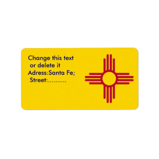 Custom Label with Flag of New Mexico, U.S.A.