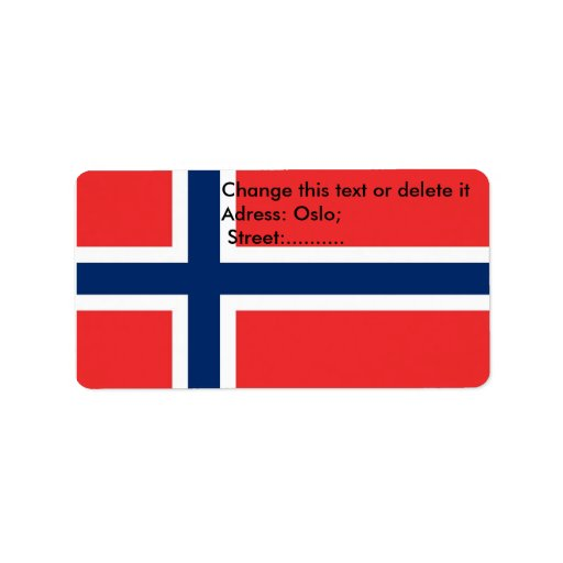 Custom Label with Flag of Norway