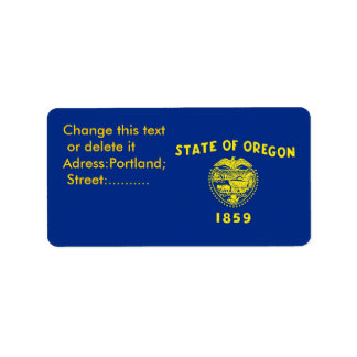 Custom Label with Flag of Oregon, U.S.A.
