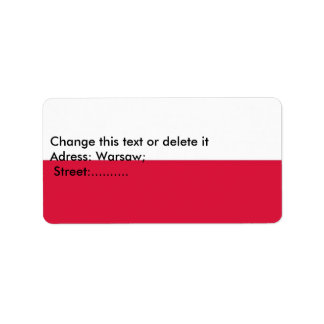 Custom Label with Flag of Poland