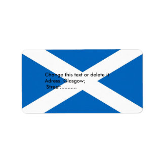 Custom Label with Flag of Scotland