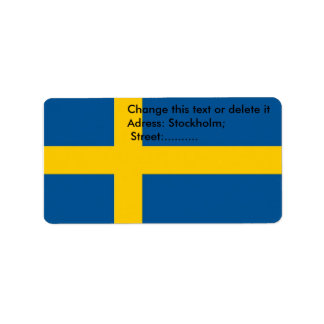 Custom Label with Flag of Sweden