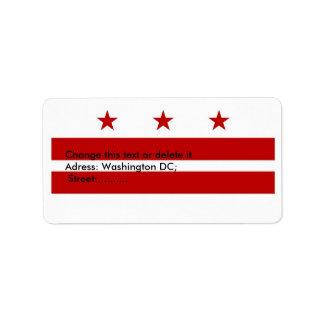 Custom Label with Flag of Washington DC, U.S.A.