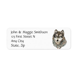 Custom Label Wolf, Wolves, Wild Animal, Nature,