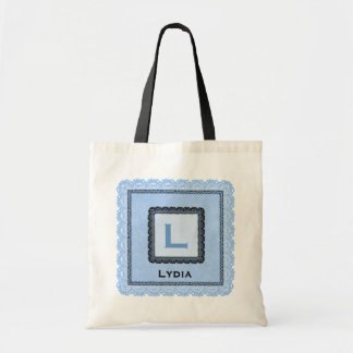 Custom Lace Monogram and Name To Personalize V08 Tote Bag