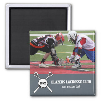 Custom Lacrosse Photo Collage Team Player Name Magnet