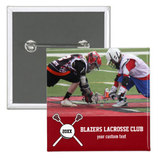 Custom Lacrosse Photo Collage Team Player Name Pinback Button