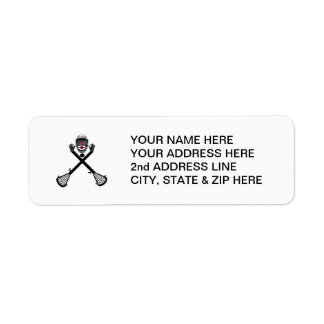 Custom Lacrosse Player Label