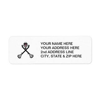 Custom Lacrosse Player Return Address Labels
