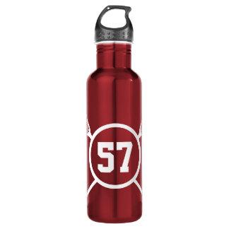 Custom Lacrosse Player Number Water Bottle