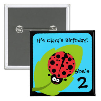 Custom Ladybug Button