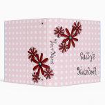 "Custom Ladybug School 1.5"" binder"