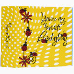"Custom Ladybug School 2"" binder"