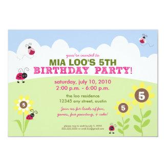 :custom: Ladybug/Sunflower Birthday Party Invite