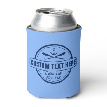 colorfulgalshop Custom Lake, Beach House & Boat Nautical Anchor Can Cooler