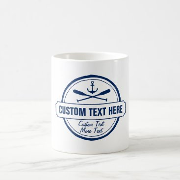 colorfulgalshop Custom Lake, Beach House & Boat Nautical Anchor Coffee Mug