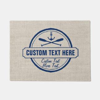 Custom Lake, Beach House & Boat Nautical Anchor Doormat