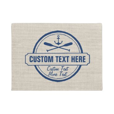 colorfulgalshop Custom Lake, Beach House & Boat Nautical Anchor Doormat