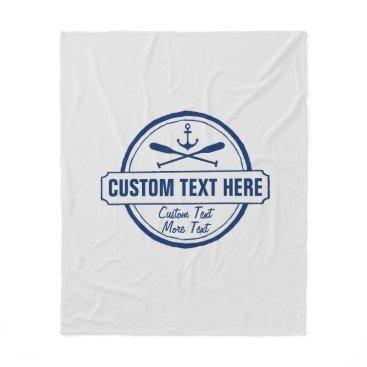 colorfulgalshop Custom Lake, Beach House & Boat Nautical Anchor Fleece Blanket