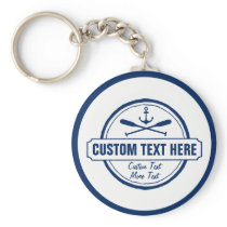 Custom Lake, Beach House & Boat Nautical Anchor Keychain