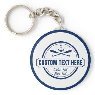Custom Lake, Beach House & Boat Nautical Anchor Keychain