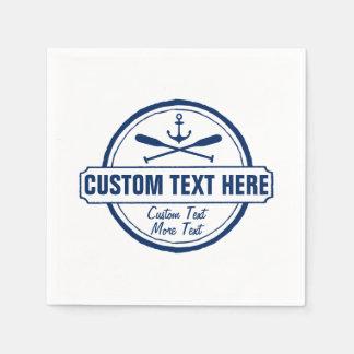Custom Lake, Beach House & Boat Nautical Anchor Paper Napkin