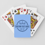 """Custom Lake, Beach House &amp; Boat Nautical Anchor Playing Cards<br><div class=""""desc"""">Play your best hand with these lake house/beach house/boating playing cards. A vintage logo style design features a nautical anchor and 2 criss-crossed paddles. Personalize with 3 lines of custom text - add your lake/beach name, family name, cabin/beach house, boat name, town, city, date, etc - whatever you&#39;d like. Perfect...</div>"""