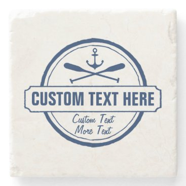 colorfulgalshop Custom Lake, Beach House & Boat Nautical Anchor Stone Coaster
