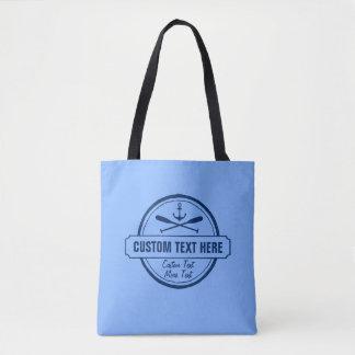 Custom Lake, Beach House & Boat Nautical Anchor Tote Bag