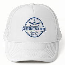 Custom Lake, Beach House & Boat Nautical Anchor Trucker Hat