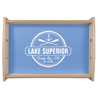 Custom Lake Home Gift with Town and Lake Name Serving Tray
