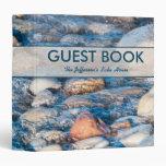 Custom Lake House Guest Book 3 Ring Binder