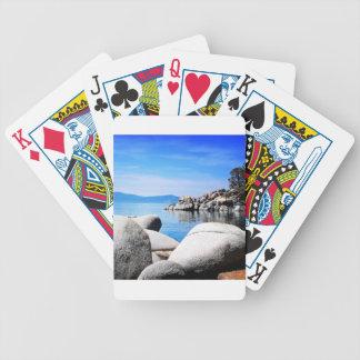 Custom Lake Tahoe Sand Harbor Photograph Bicycle Playing Cards