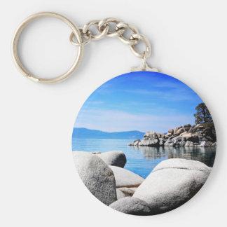 Custom Lake Tahoe Sand Harbor Photograph Keychain