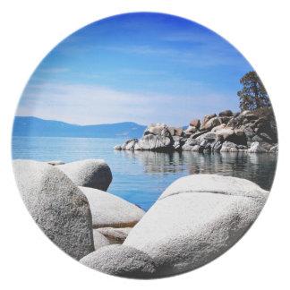 Custom Lake Tahoe Sand Harbor Photograph Plate