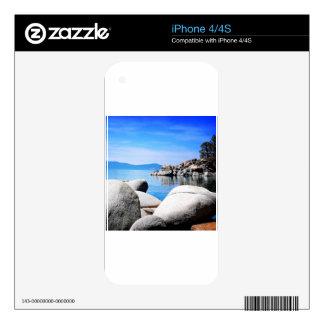 Custom Lake Tahoe Sand Harbor Photograph Skin For The iPhone 4S