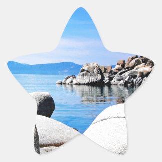 Custom Lake Tahoe Sand Harbor Photograph Star Sticker