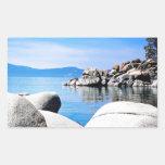 Custom Lake Tahoe Sand Harbor Photograph Rectangle Stickers