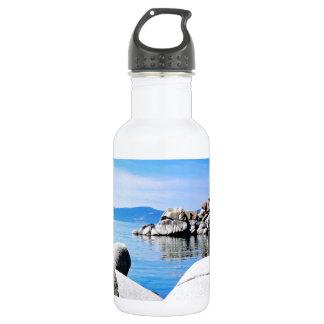 Custom Lake Tahoe Sand Harbor Photograph Water Bottle