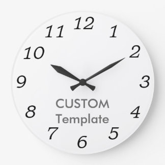 "Custom Large 10.75"" ROUND Wall Clock MATT ANT. IT"