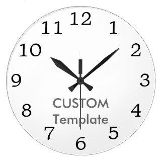 """Custom Large 10.75"""" ROUND Wall Clock MATT ANT. RO"""