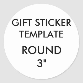 """Custom LARGE 3"""" ROUND Gift Stickers Template"""