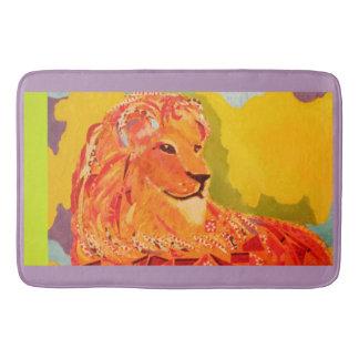Custom Large Bath Mat with Bright Lion Bath Mats