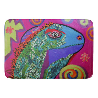 Custom Large Bath Mat with Cool Lizard