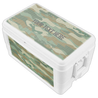Custom large fishing camo ice chest cooler