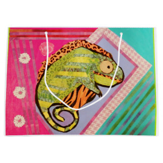Custom Large Gift Bag with Bright Lizard